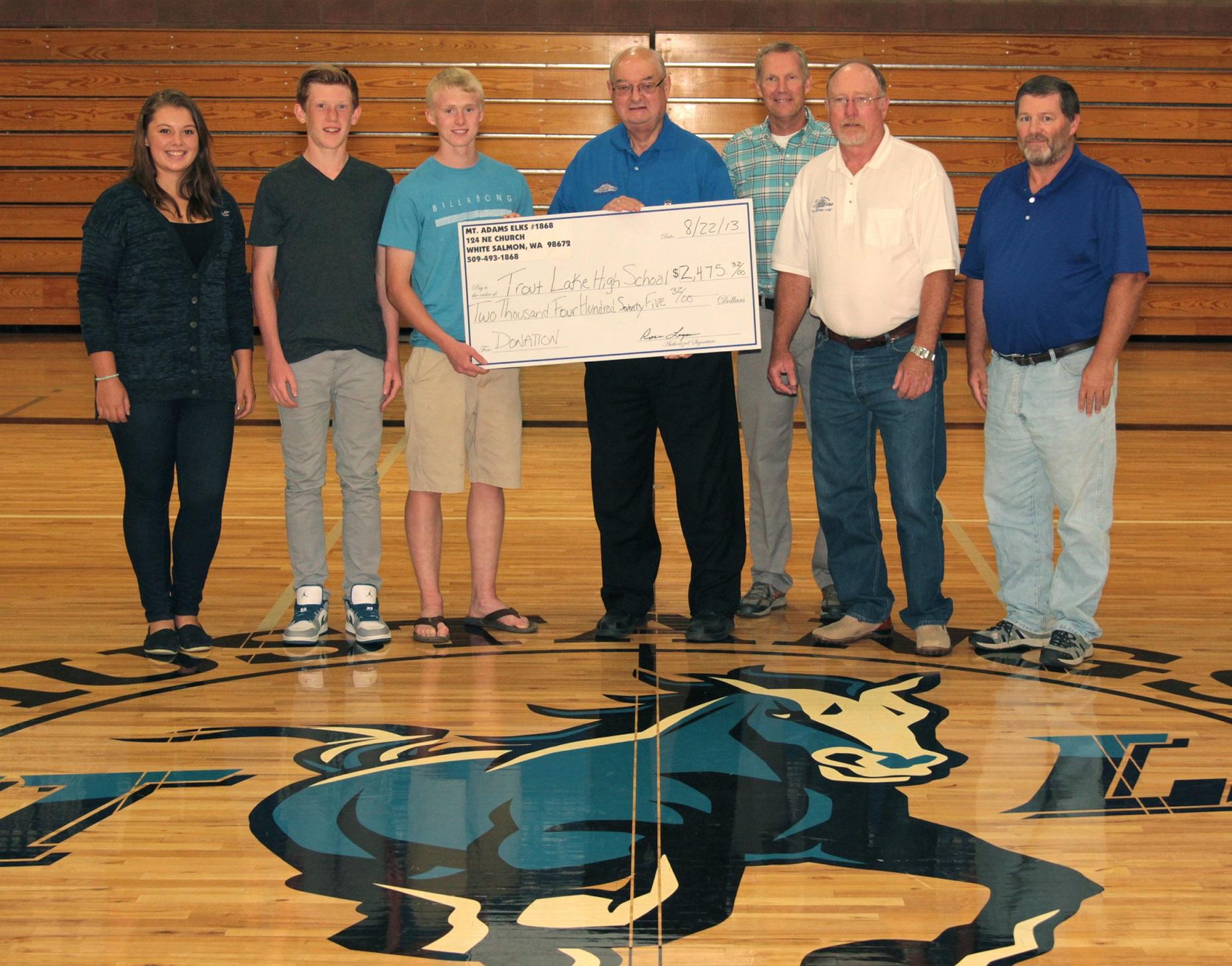 TroutLake High School Donation